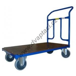 Plošinový vozík 1BRS 1000x600 mm s pevným madlem, nosnost 400 kg