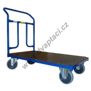 Plošinový vozík 1BRS 1200x700 mm s pevným madlem, nosnost 300 kg