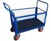 Ohradový plošinový vozík OS, 1000x600 mm, nosnost 250 kg, kola 225 mm - zobrazit detail zboží