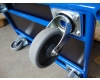 Třípatrový nízký vozík 3P 850x500 mm, nosnost 250kg, kola 125 mm