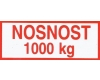Štítek nosnost 1000 kg - zobrazit detail zboží