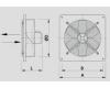 Nástěnný axiální ventilátor  WOO 35/52 B*