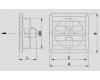 Nástěnný axiální ventilátor  WOO 30/30 UZW